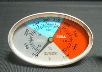 BBQ pro temp Grill Smoker Thermometer 3.25
