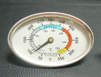 This is The BBQ PRO TEMP SILVER 3.25 Grill Thermometer
